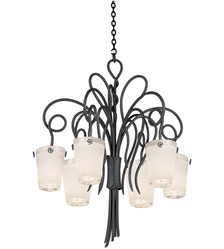 Black Hand Forged Iron Tribecca Chandeliers
