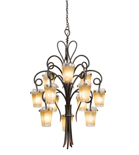 Kalco 4290AC/ANTQ Tribecca 12 Light 36 inch Tortoise Shell Chandelier Ceiling Light in ANTQ, Antique Copper photo
