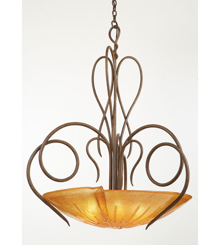 Kalco Lighting Tribecca 6 Light Pendant in Tortoise Shell 4297TO/FLAME photo