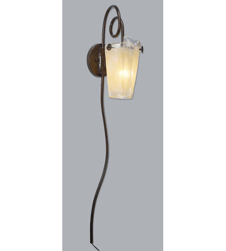 Kalco 4305TO/ANTQ Tribecca 1 Light 7 inch Escalante Wall Sconce Wall Light in ANTQ, Tortoise Shell photo