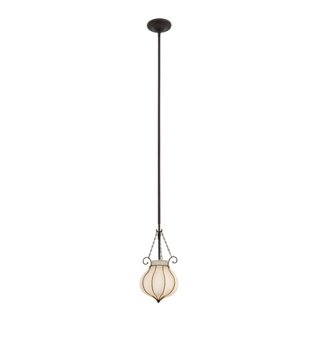 Kalco Lighting Mardi Gras 1 Light Pendant in Black 4430B/1433 photo