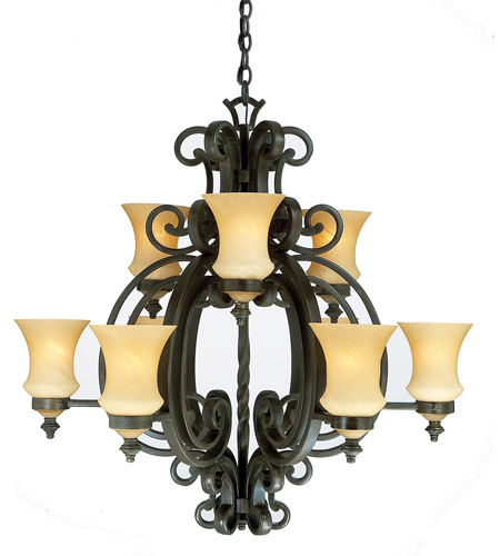 Kalco 4439HV Hamilton 9 Light 36 inch Havana Chandelier Ceiling Light in Without Glass FALL CLEARANCE photo