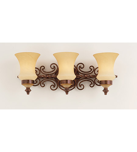 Kalco Lighting Hamilton 3 Light Bath Light in Copper Claret 4443CC photo