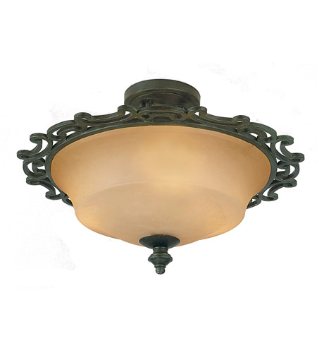 Kalco Lighting Hamilton 3 Light Semi Flush in Havana 4445HV photo