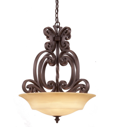 Kalco 4449TP Hamilton 3 Light 24 inch Tuscan Sun Pendant Ceiling Light in Without Glass, Tawny Port FALL CLEARANCE photo