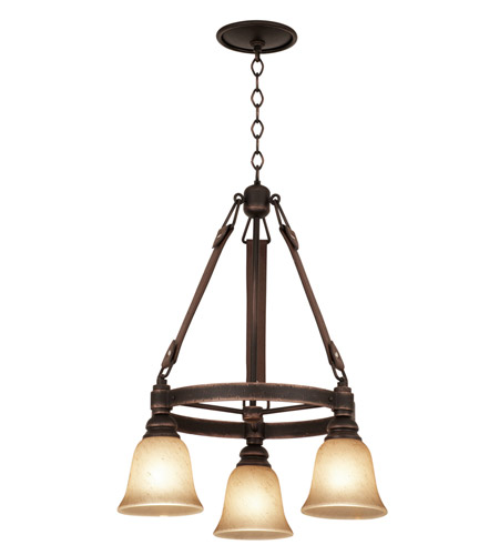 Kalco Tortoise Shell Glass Chandeliers
