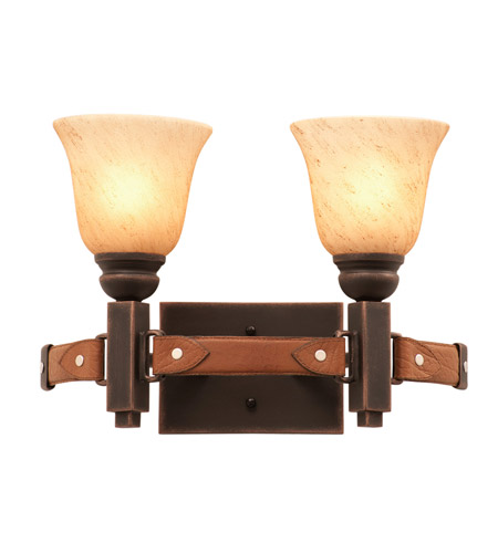 Antique Copper Leather Bathroom Vanity Lights