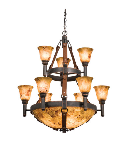 Kalco 4649AC/PS103/PS11 Rodeo Drive 14 Light 34 inch Tuscan Sun Chandelier Ceiling Light in Penshell (PS103), Penshell (PS11), Antique Copper photo