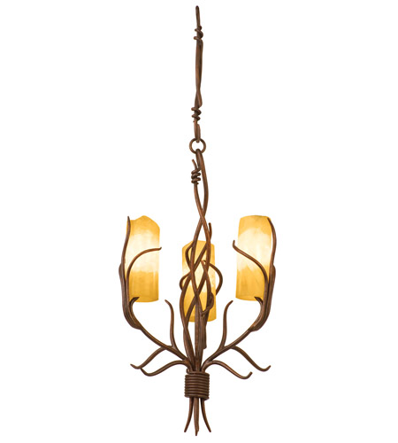 Kalco 4755GW/CALC Napa 3 Light 15 inch Golden Wheat Chandelier Ceiling Light in Calcite (CALC) photo