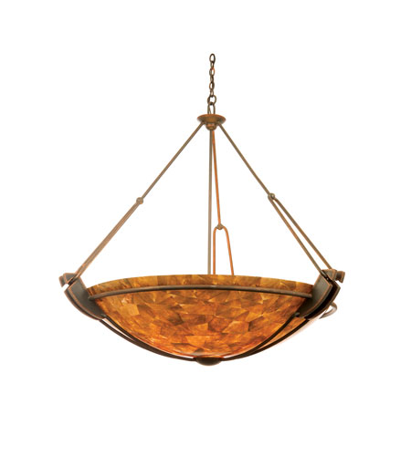 Kalco 4842AC/NS115 Grande 6 Light 45 inch Antique Copper Pendant Ceiling Light in Iridescent Shell (NS115) photo