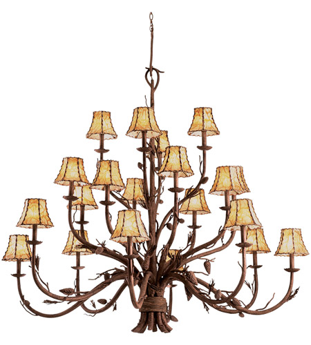 Hand Forged Wrought Iron Ponderosa Chandeliers