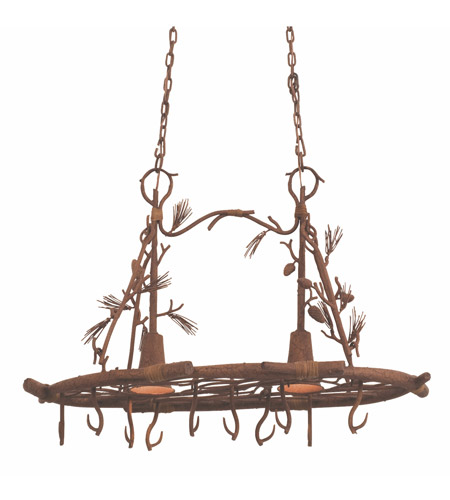 Kalco Lighting Ponderosa 2 Light Pot Rack in Ponderosa 5038PD photo