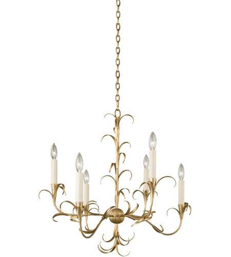 Kalco 505471OL Ainsley 6 Light 26 inch Oxidized Gold Leaf Chandelier Ceiling Light photo