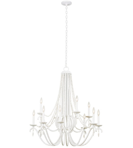 Kalco 507272DW Acadia 12 Light 34 inch Distressed White Chandelier Ceiling Light photo