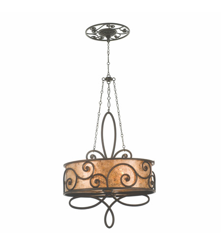 Kalco 5409AC Windsor 4 Light 27 inch Antique Copper Pendant Ceiling Light in Without Shade photo