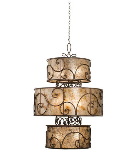 Kalco Aged Iron Foyer Pendants