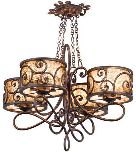 Kalco 5414AC Windsor 16 Light 31 inch Aged Silver Chandelier Ceiling Light in Without Shade, Antique Copper photo