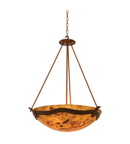 Kalco 5458TN/PS103 Aegean 5 Light 27 inch Tawny Port Pendant Ceiling Light in Penshell (PS103), Tuscan Sun photo