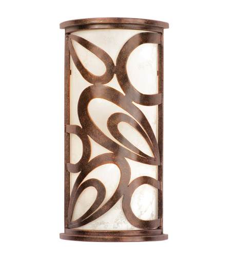 Wall Sconces Without Lights : Kalco Lighting Asiana 3 Light Wall Sconce in Copper Claret 5491CC