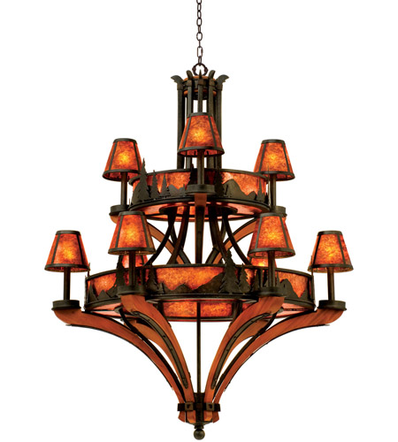 Kalco 5812NI Aspen 18 Light 40 inch Natural Iron Chandelier Ceiling Light photo