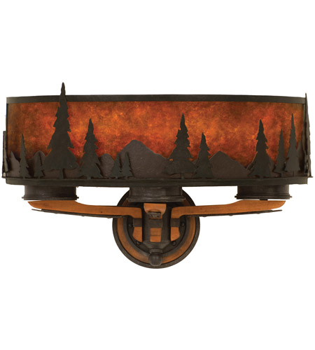 Kalco 5815NI Aspen 3 Light 21 inch Natural Iron Wall Sconce Wall Light photo