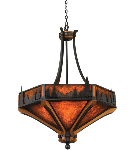 Kalco 5817NI Aspen 6 Light 28 inch Natural Iron Pendant Ceiling Light photo