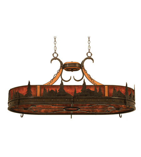 Kalco 5828NI Aspen 6 Light 46 inch Natural Iron Pot Rack Ceiling Light photo