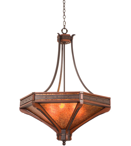 Kalco Lighting Aspen 6 Light Pendant in Natural Iron 5839NI photo