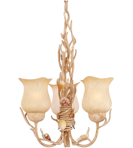 Kalco Lighting Atlantis 3 Light Chandelier in Coral 6078CR photo