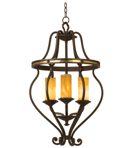 Kalco Lighting Durango 3 Light Chandelier in Tawny Port with Natural Calcite Shade 6108TP-2/CALC photo