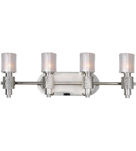 Kalco 6274psn ashington 4 light 28 inch polished satin nickel vanity light wall light