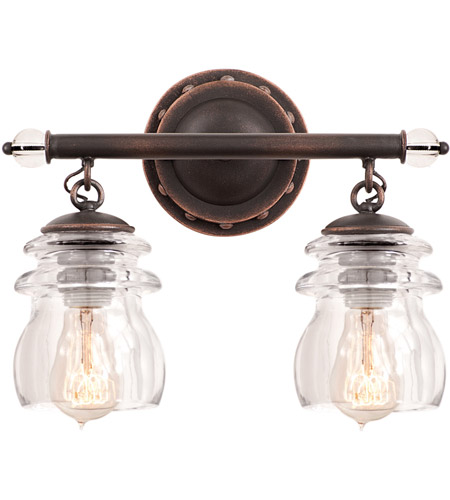 Antique Copper Brierfield Bathroom Vanity Lights
