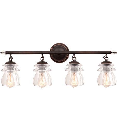 Kalco Lighting Brierfield 4 Light Bath Light in Antique Copper 6314AC photo