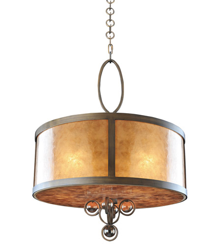 Sandhurst 5 Light 24 Inch Antique Brass Pendant Ceiling