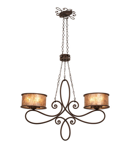 Kalco 6577AC Whitfield 10 Light 42 inch Aged Silver Island Ceiling Light in Without Shade, Antique Copper photo