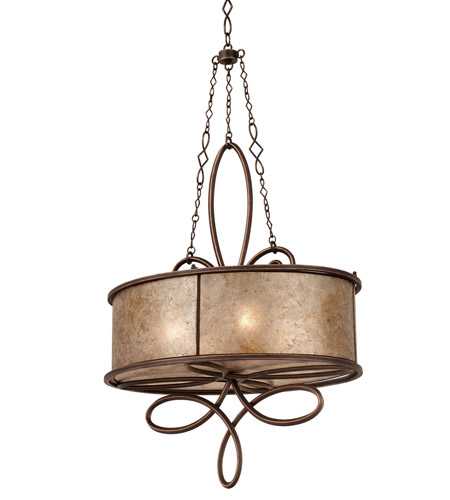 Kalco Lighting Whitfield 4 Light Oval Pendant in Antique Copper 6579AC photo