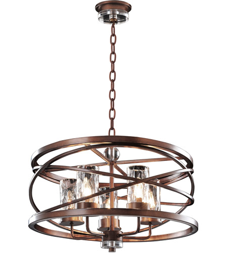 Kalco Lighting Eternity 5 Light Pendant in Etruscan Bronze 6609EZ photo