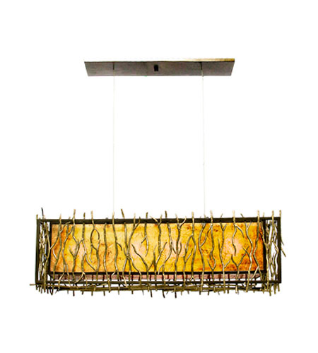 Kalco Oakham 4 Light Pendant in Bronze 6611BZ photo