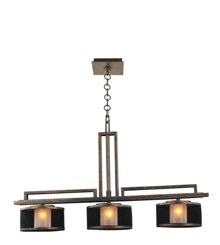 Kalco 6716VB Stanley 3 Light 28 inch Volcano Bronze Island Ceiling Light in VB photo