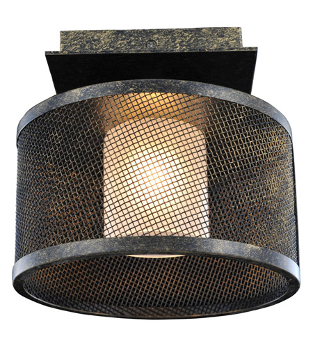Kalco 6719VB Stanley 1 Light 8 inch Volcano Bronze Semi Flush Ceiling Light FALL CLEARANCE photo