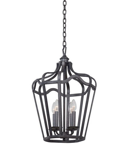 Kalco 7414cl livingston 4 light 30 inch vintage iron hanging lantern ceiling light