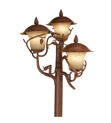 Kalco Lighting Ponderosa 9 Light Outdoor Lantern Head in Ponderosa 9173PD photo