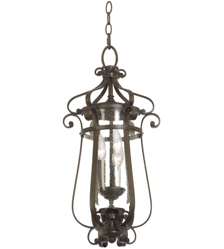 Kalco 9235bb hartford outdoor 3 light 11 inch burnished bronze hanging lantern ceiling light photo