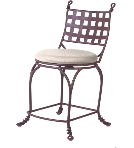Kalco F650BA Vine 39 inch Bark Counter Stool, Without Armrest photo