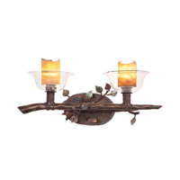 Cottonwood 2 Light 21 inch Aged Silver Bath Light Wall Light in Calcite (CALC), Sienna Bronze