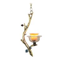 Cottonwood 1 Light 9 inch Aged Silver Pendant Ceiling Light in Art Glass, 0