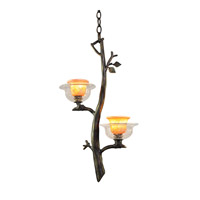 Cottonwood 2 Light 14 inch Sienna Bronze Pendant Ceiling Light in Art Glass