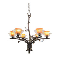 Kalco Lighting Cottonwood 6 Light Chandelier in Sienna Bronze 2522SB/ART