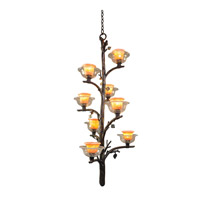 Cottonwood 6 Light 25 inch Aged Silver Chandelier Ceiling Light in Art Glass, Sienna Bronze FALL CLEARANCE