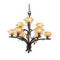 Cottonwood 9 Light 32 inch Sienna Bronze Chandelier Ceiling Light in Art Glass FALL CLEARANCE